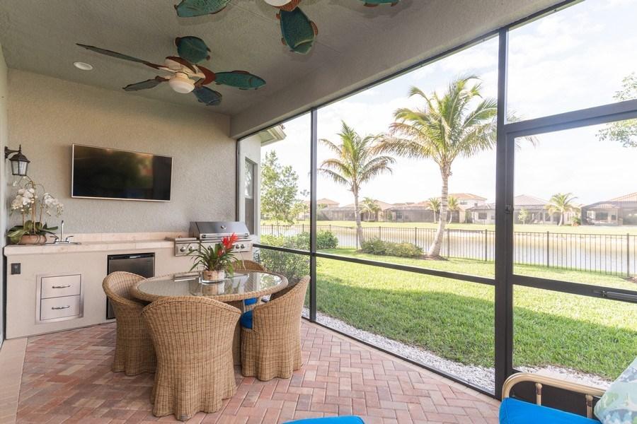 Real Estate Photography - 4213 Amelia Way, (Stonecreek), Naples, FL, 34119 - Patio