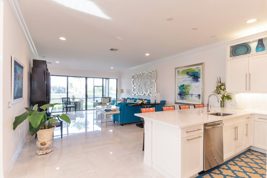 Real Estate Photography - 4213 Amelia Way, (Stonecreek), Naples, FL, 34119 - Kitchen / Dining Room