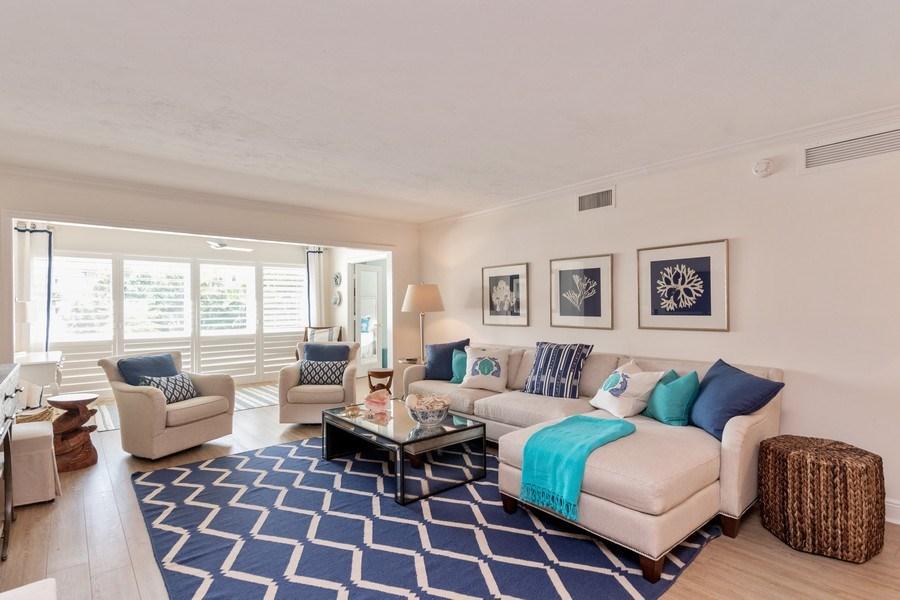 Real Estate Photography - 1900 Gulf Shore Blvd N, 104, Naples, FL, 34102 - Living Room