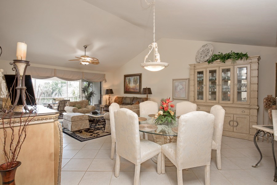 Real Estate Photography - 4250 Lake Forest Dr, 323, Bonita Springs, FL, 34134 - Dining Area