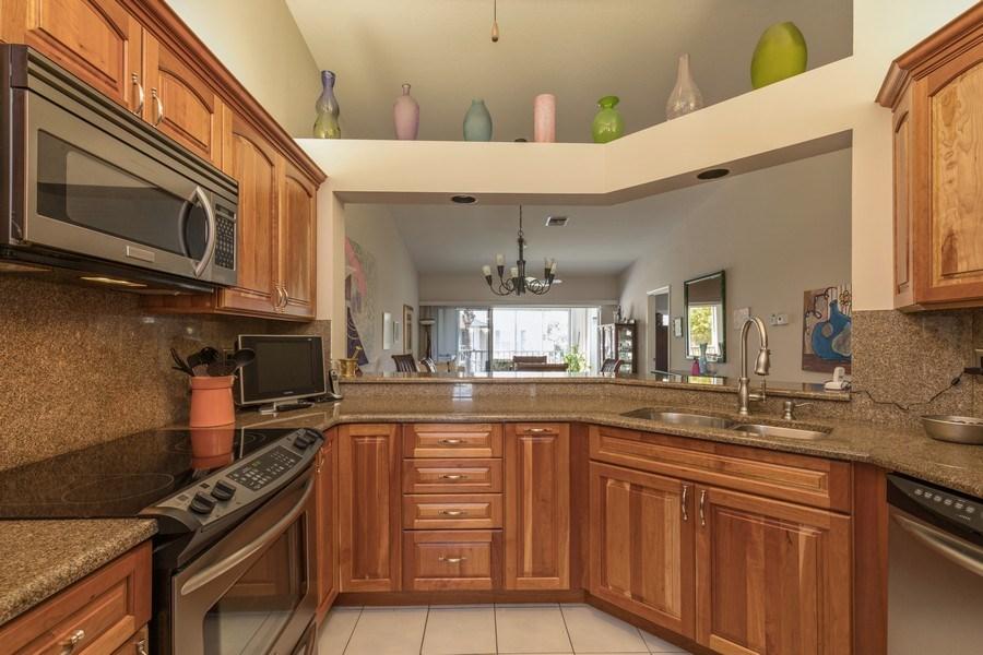 Real Estate Photography - 7096 Barrington circle #202, Naples, FL, 34108 - Kitchen