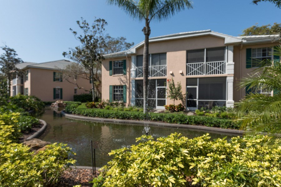 Real Estate Photography - 7096 Barrington circle #202, Naples, FL, 34108 - Rear View