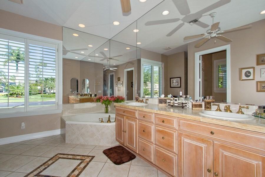 Real Estate Photography - 2118 Imperial Cir, Naples, FL, 34110 - Master Bathroom