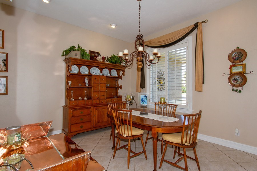Real Estate Photography - 2118 Imperial Cir, Naples, FL, 34110 - Dining Room