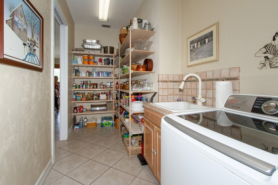 Real Estate Photography - 2118 Imperial Cir, Naples, FL, 34110 - Pantry