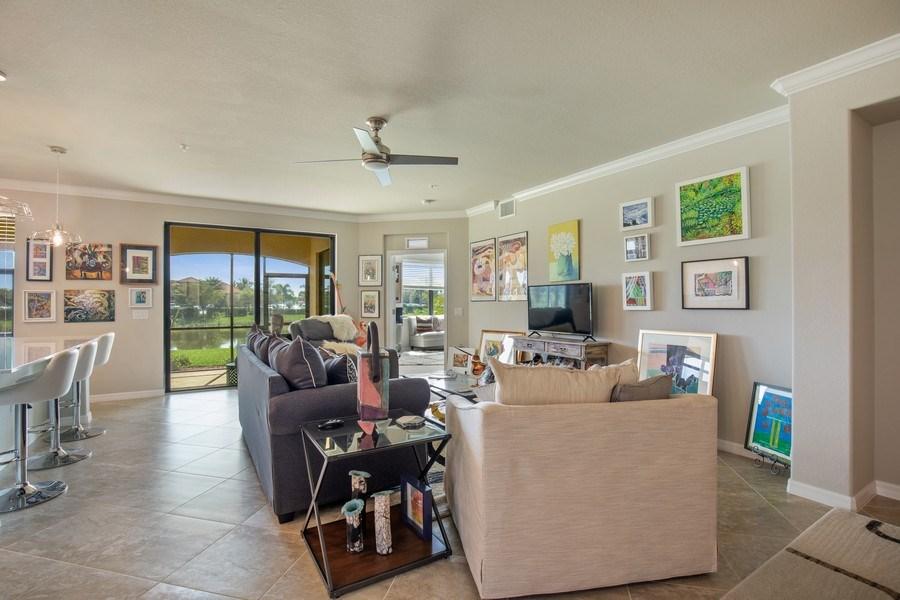 Real Estate Photography - 17271 Cherrywood Ct, #8701, Bonita Springs, FL, 34135 - Living Room