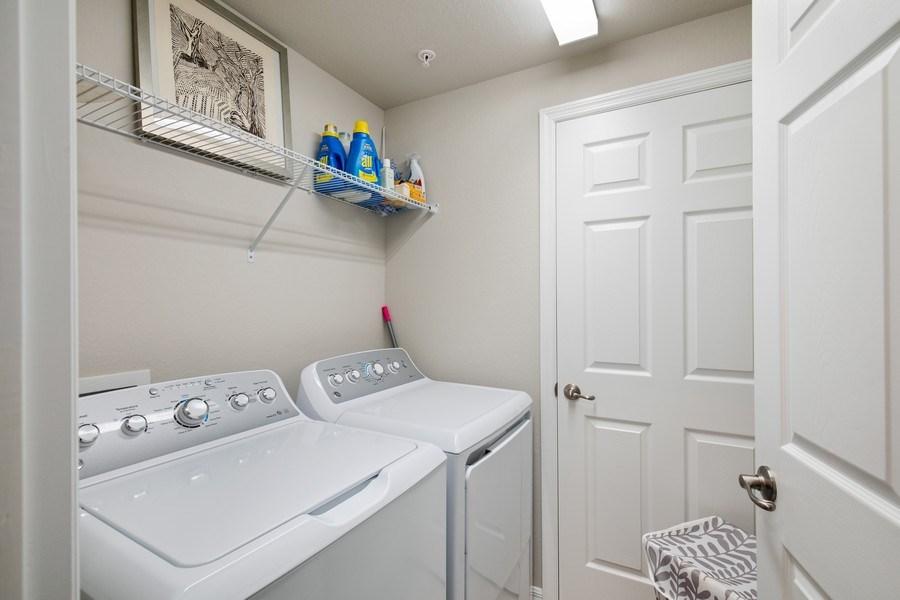 Real Estate Photography - 17271 Cherrywood Ct, #8701, Bonita Springs, FL, 34135 - Laundry Room
