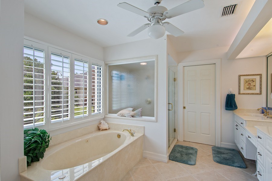 Real Estate Photography - 2204 Majestic Ct, Naples, FL, 34110 - Master Bathroom