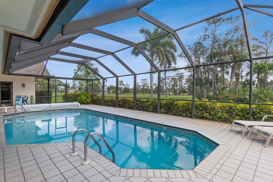 Real Estate Photography - 2204 Majestic Ct, Naples, FL, 34110 - Pool