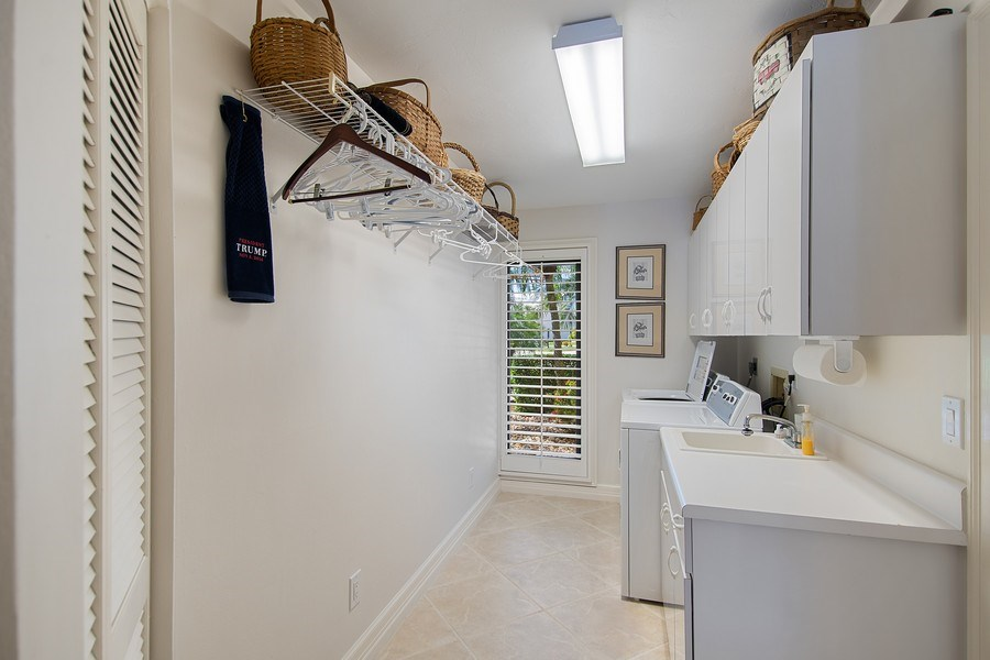 Real Estate Photography - 2204 Majestic Ct, Naples, FL, 34110 - Laundry Room