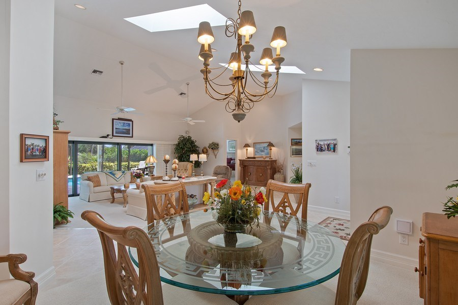 Real Estate Photography - 2204 Majestic Ct, Naples, FL, 34110 - Living Room / Dining Room