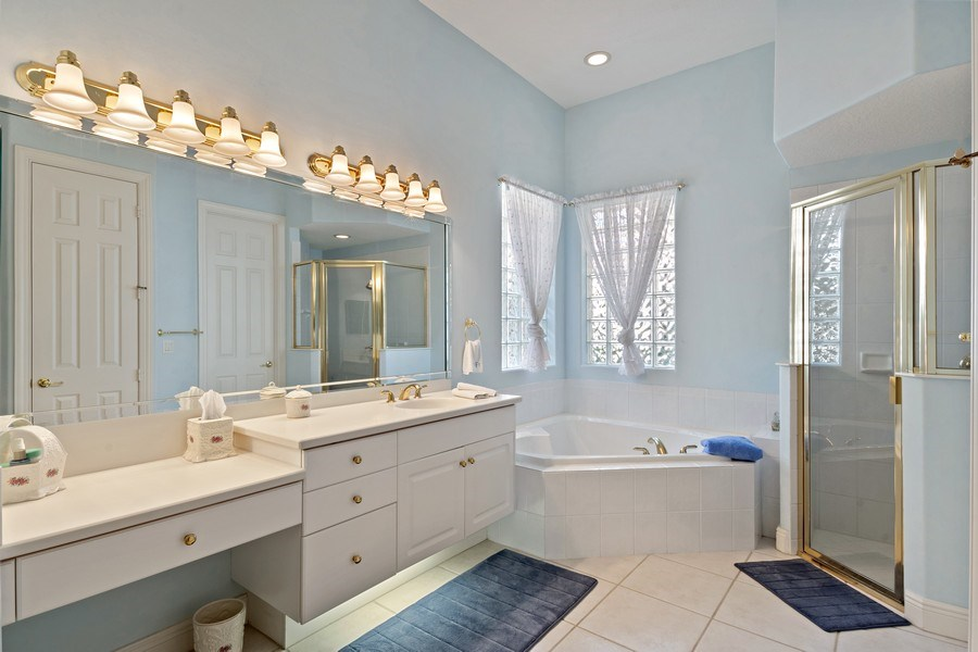 Real Estate Photography - 918 Tierra Lago Way, Naples, FL, 34119 - Master Bathroom