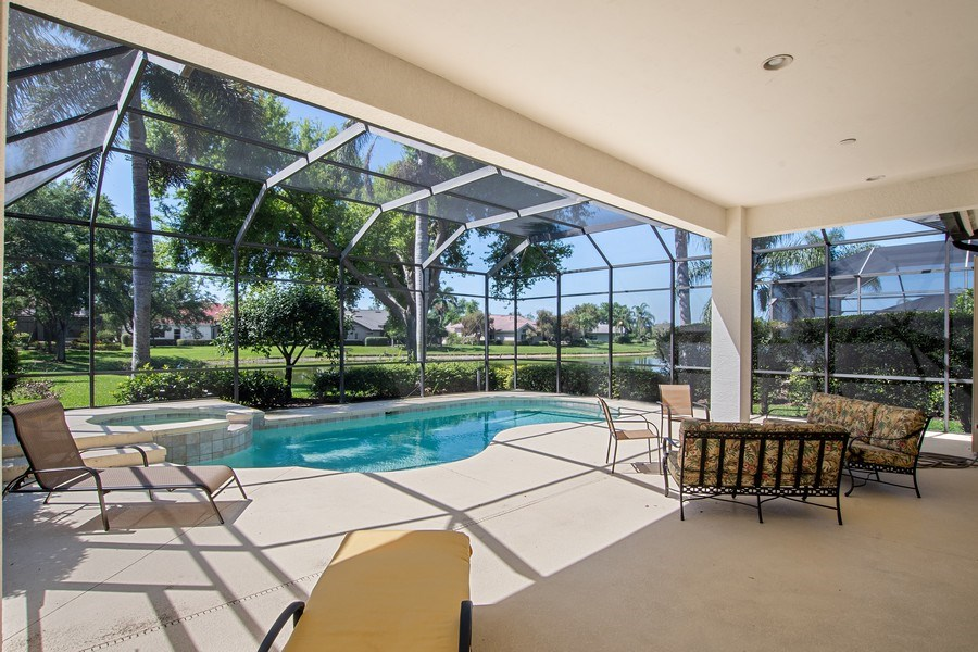 Real Estate Photography - 918 Tierra Lago Way, Naples, FL, 34119 - Patio