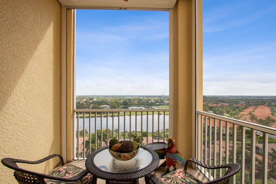 Real Estate Photography - 14270 Royal Harbour, 1020, Fort Myers, FL, 33908 - Balcony