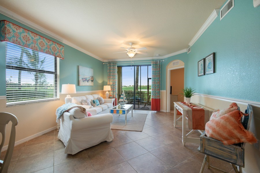 Real Estate Photography - 17971 Bonita National Blvd. #611, Bonita National, FL, 34135 - Living Room