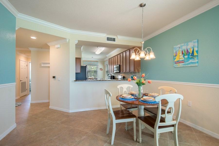 Real Estate Photography - 17971 Bonita National Blvd. #611, Bonita National, FL, 34135 - Dining Room