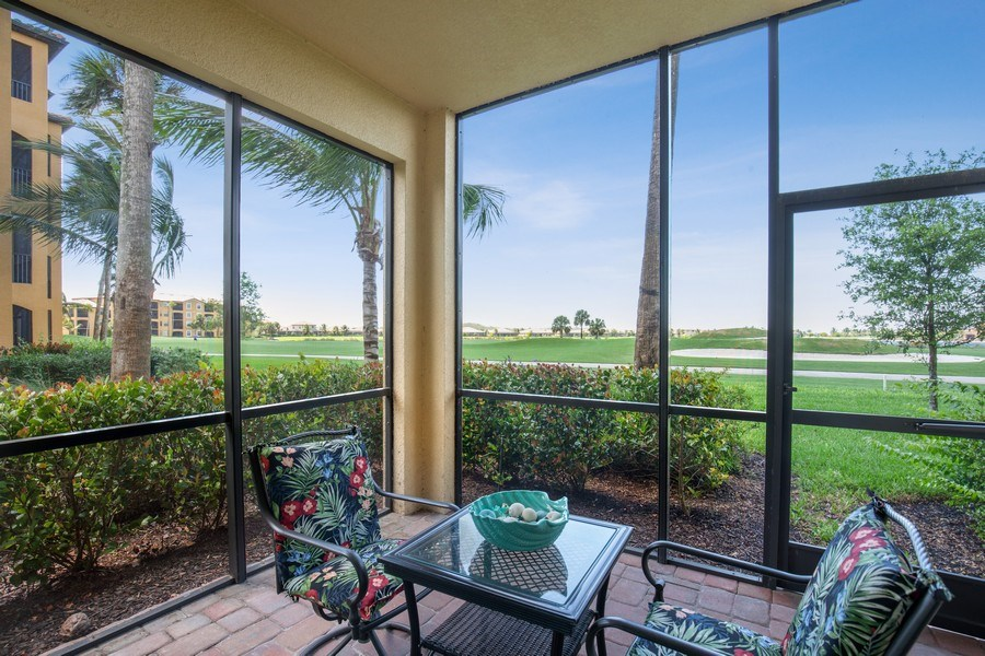 Real Estate Photography - 17971 Bonita National Blvd. #611, Bonita National, FL, 34135 - Lanai