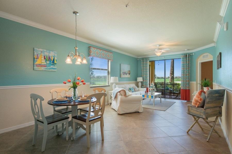 Real Estate Photography - 17971 Bonita National Blvd. #611, Bonita National, FL, 34135 - Living Room/Dining Room
