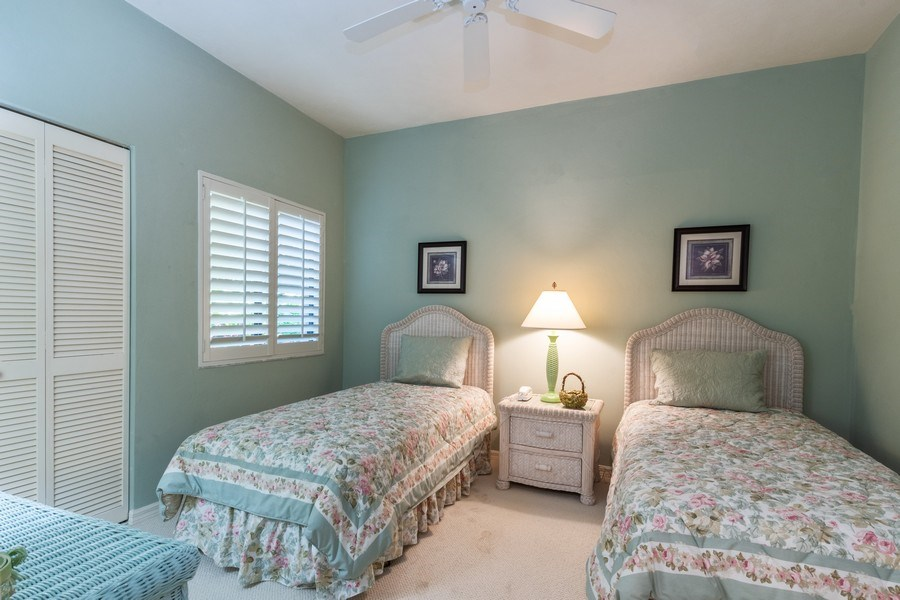 Real Estate Photography - 7048 Pelican Bay Blvd. C-105, Naples, FL, 34108 - Bedroom