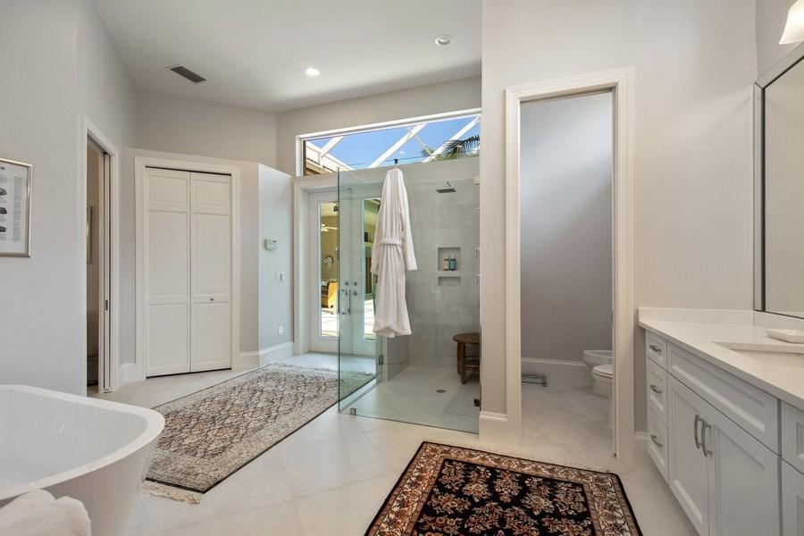 Real Estate Photography - 109 Greenfield Ct, Naplles, FL, 34110 - Master Bathroom