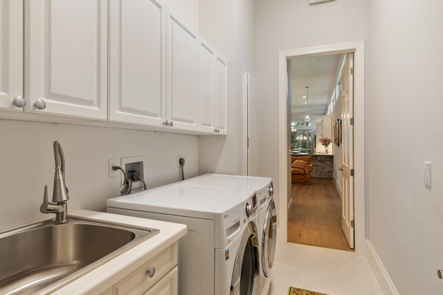 Real Estate Photography - 109 Greenfield Ct, Naplles, FL, 34110 - Laundry Room