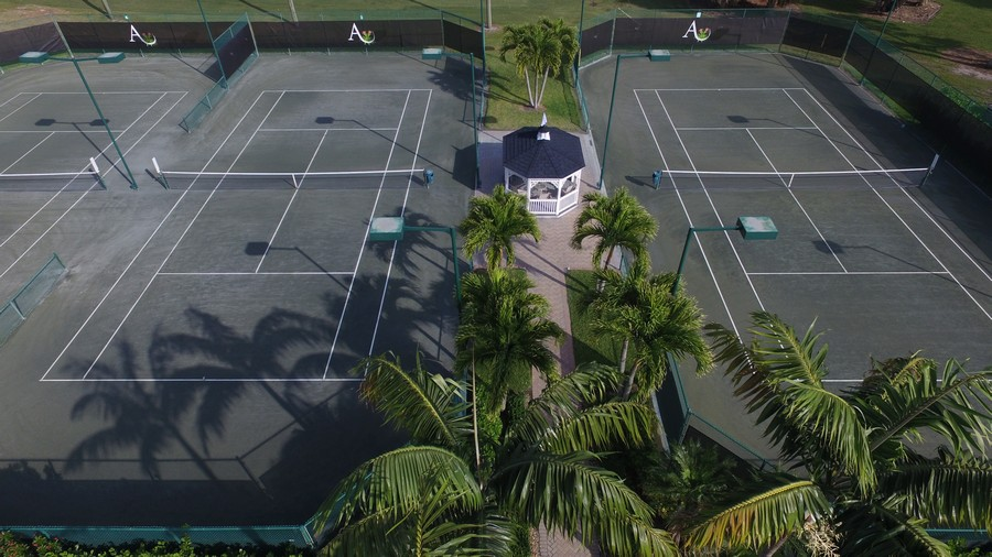 Real Estate Photography - 109 Greenfield Ct, Naplles, FL, 34110 - Tennis Courts