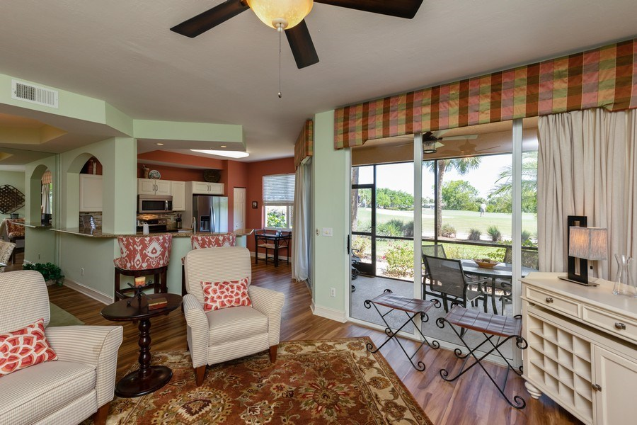 Real Estate Photography - 20800 Hammock Greens Ln, Unit 105, Estero, FL, 33928 - Living Room