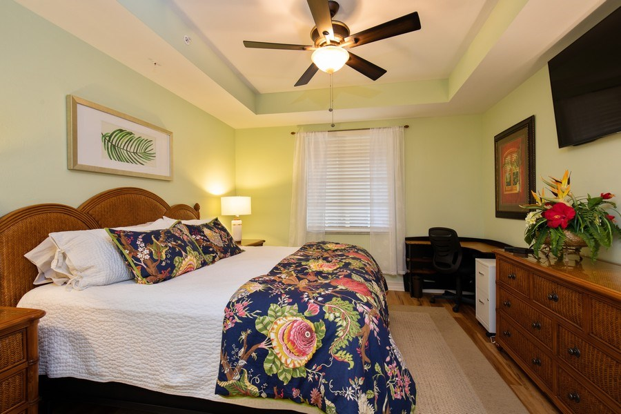 Real Estate Photography - 20800 Hammock Greens Ln, Unit 105, Estero, FL, 33928 - Master Bedroom