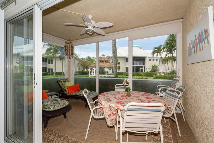 Real Estate Photography - 5805 Glencove Dr #704, Naples, FL, 34108 - Lanai