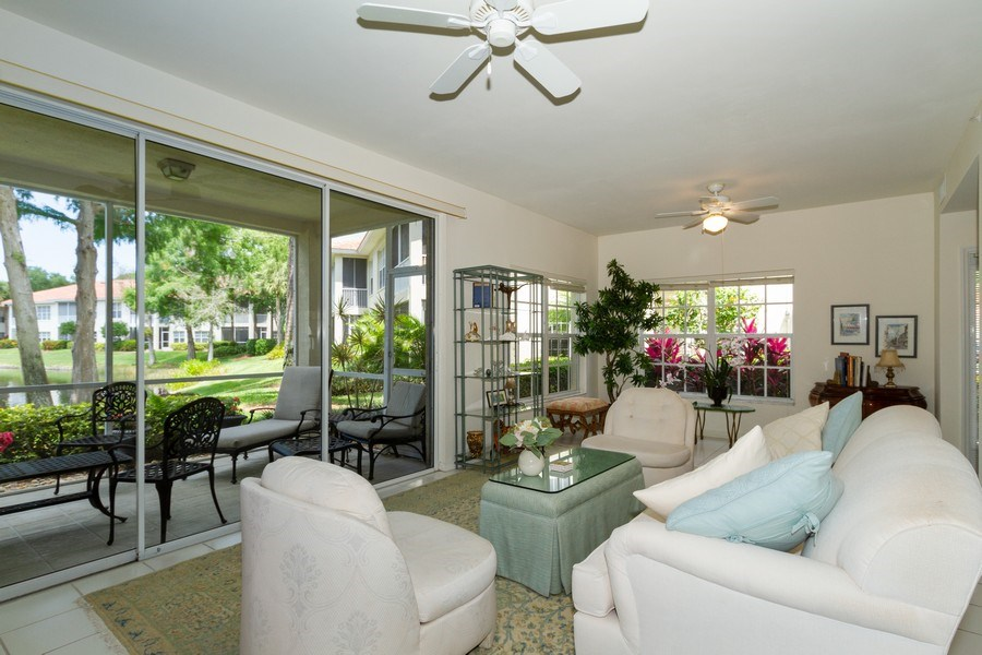 Real Estate Photography - 1036 Egrets Walk Circle #104, Naples, FL, 34108 - Living Room
