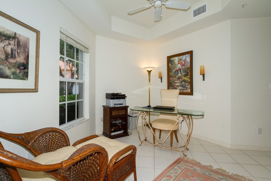 Real Estate Photography - 1036 Egrets Walk Circle #104, Naples, FL, 34108 - Den