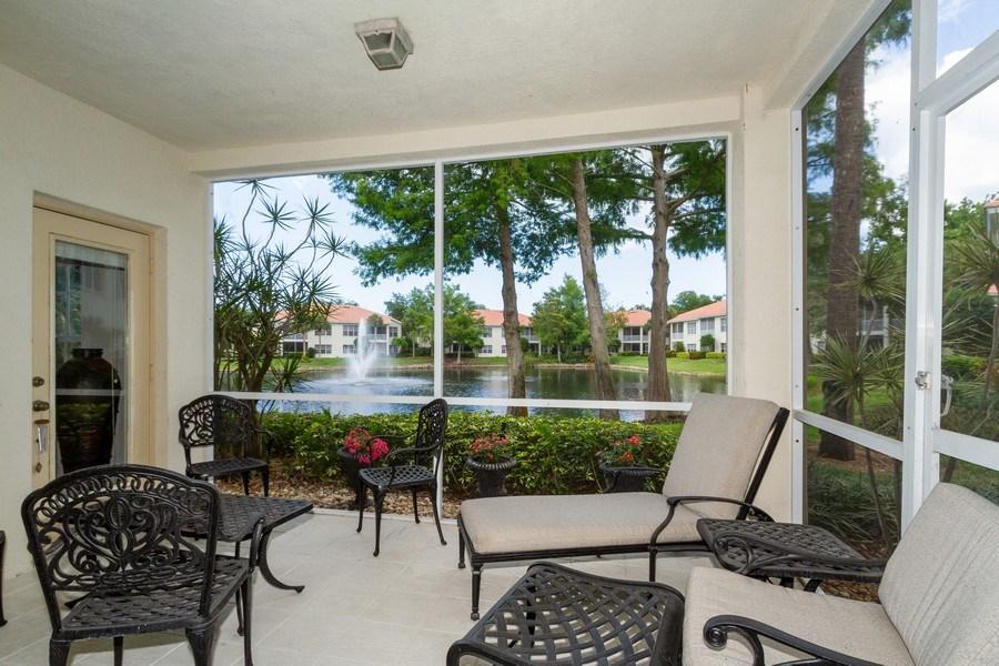 Real Estate Photography - 1036 Egrets Walk Circle #104, Naples, FL, 34108 - Lanai