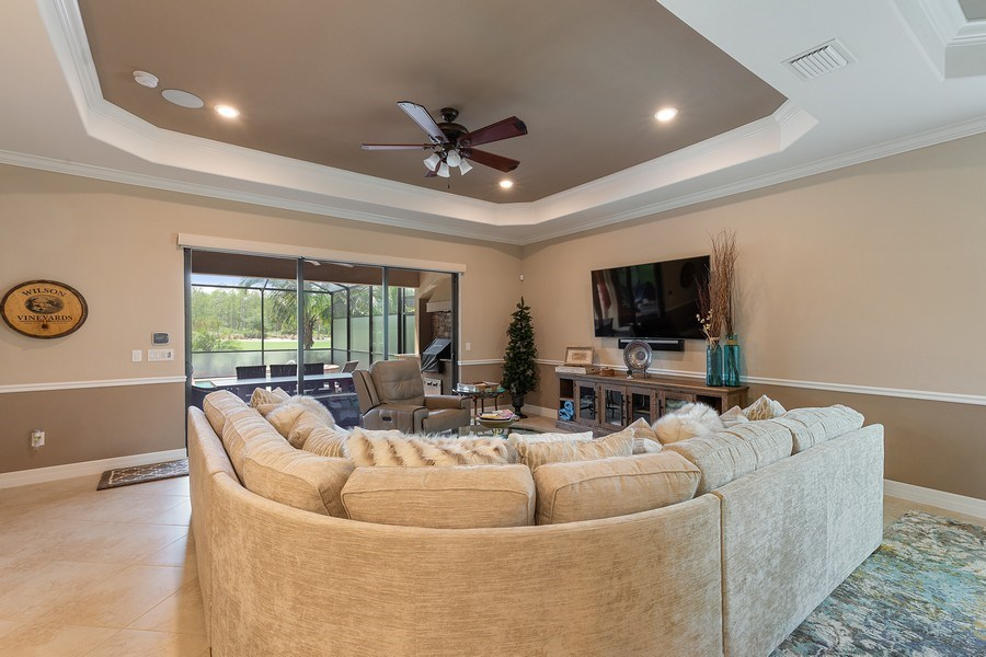Real Estate Photography - 17571 Monaghan Run, Bonita Springs, FL, 34135 - Living Room