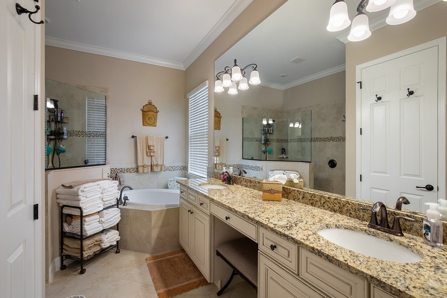 Real Estate Photography - 17571 Monaghan Run, Bonita Springs, FL, 34135 - Master Bathroom