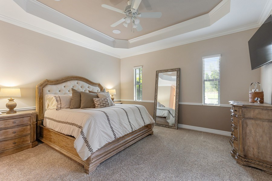 Real Estate Photography - 17571 Monaghan Run, Bonita Springs, FL, 34135 - Master Bedroom