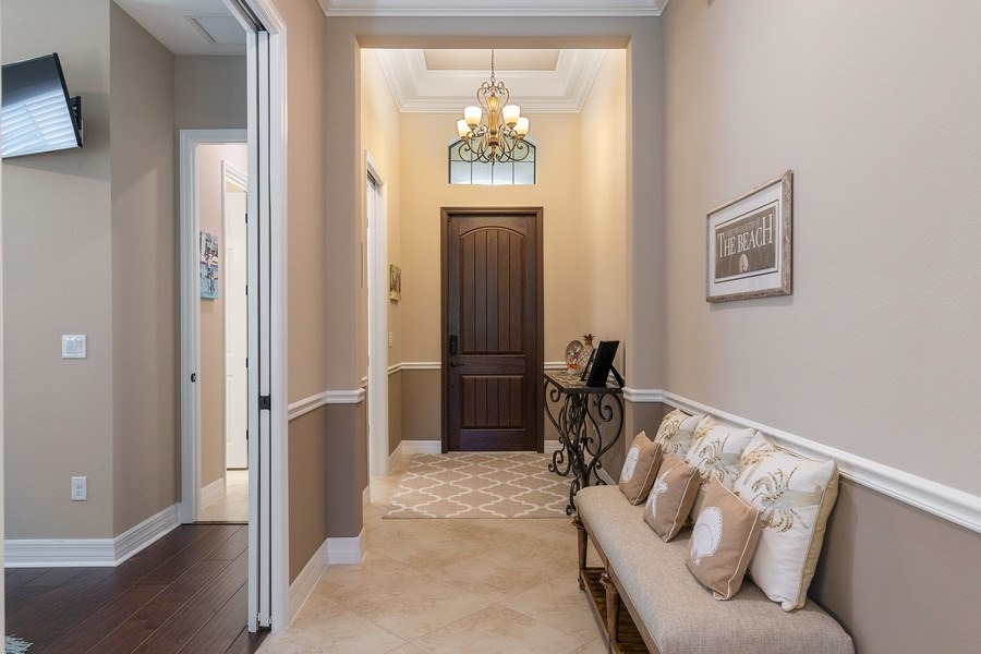 Real Estate Photography - 17571 Monaghan Run, Bonita Springs, FL, 34135 - Foyer