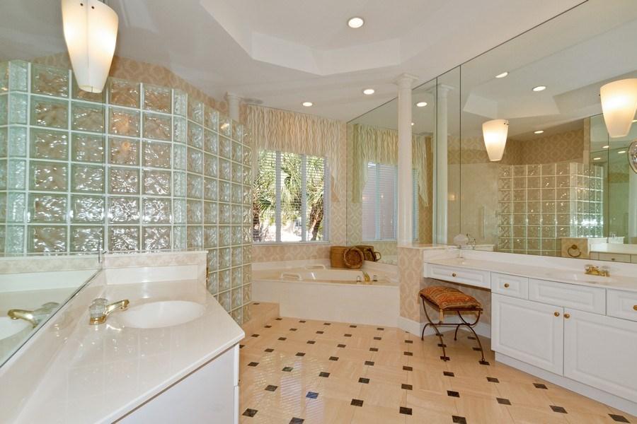 Real Estate Photography - 615 Via Mezner, Unit 1703, Naples, FL, 34108 - Master Bathroom