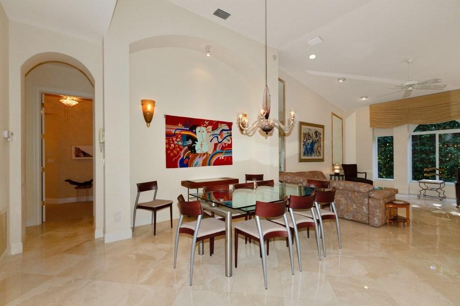 Real Estate Photography - 615 Via Mezner, Unit 1703, Naples, FL, 34108 - Dining Room