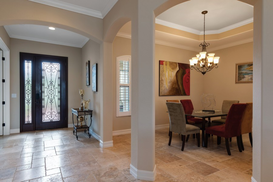 Real Estate Photography - 18190 Bonita National Boulevard, Bonita Springs, FL, 34136 - Foyer/Dining Room