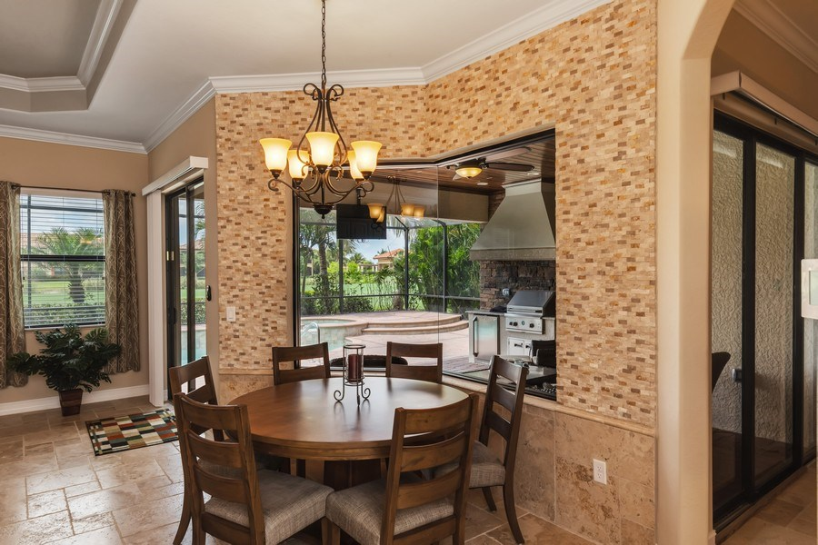 Real Estate Photography - 18190 Bonita National Boulevard, Bonita Springs, FL, 34136 - Breakfast Area