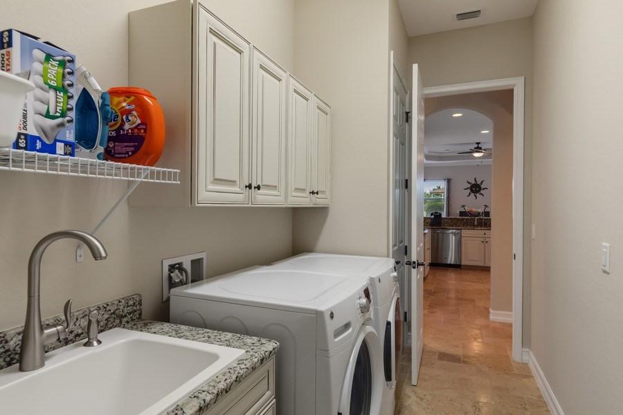 Real Estate Photography - 18190 Bonita National Boulevard, Bonita Springs, FL, 34136 - Laundry Room