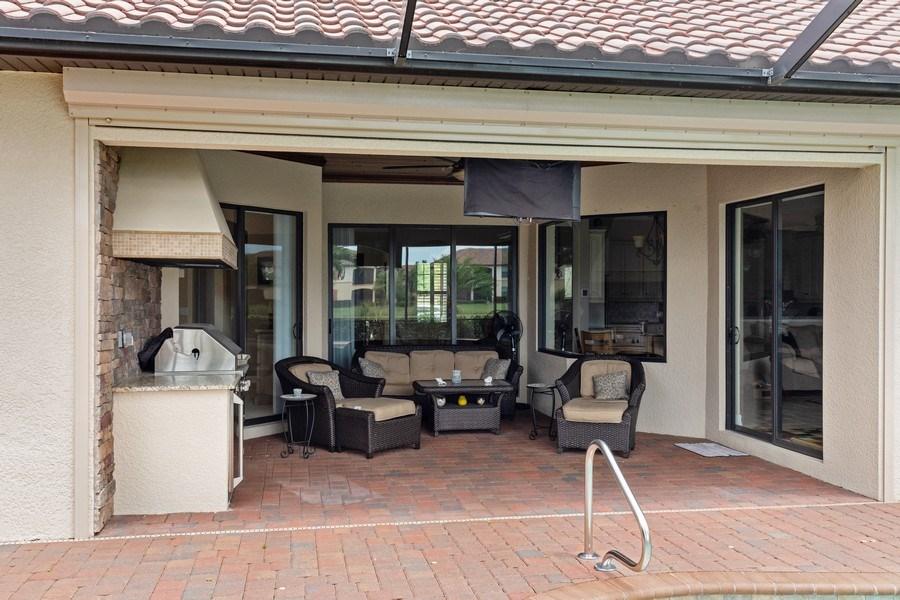 Real Estate Photography - 18190 Bonita National Boulevard, Bonita Springs, FL, 34136 - Lanai