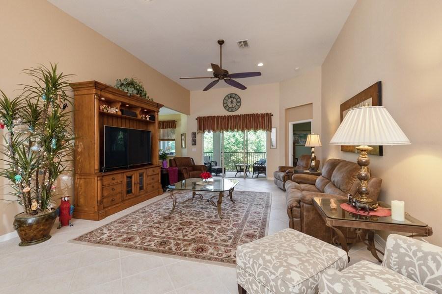 Real Estate Photography - 18941 Bay Woods Lake Dr. #201, Fort Myers, FL, 33908 - Living Room
