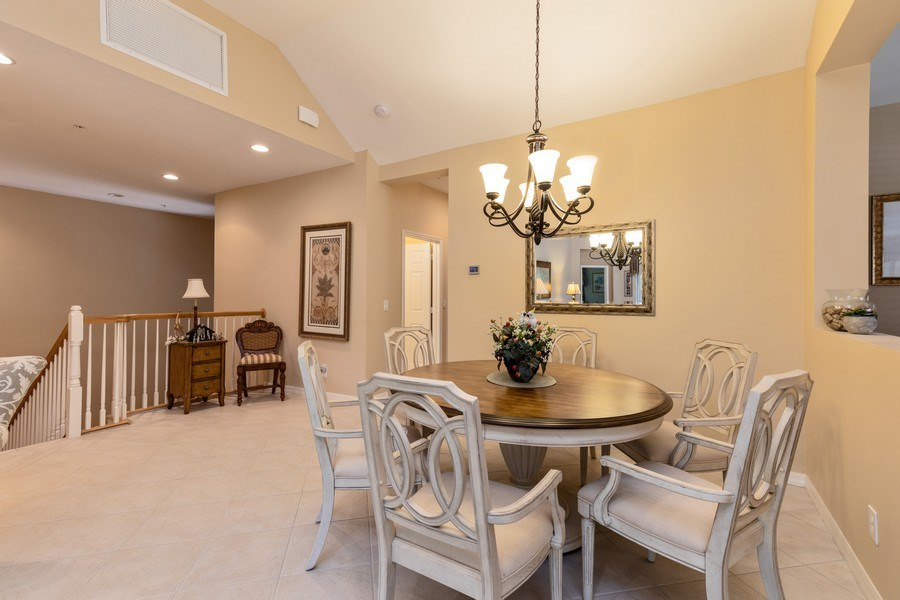 Real Estate Photography - 18941 Bay Woods Lake Dr. #201, Fort Myers, FL, 33908 - Dining Area