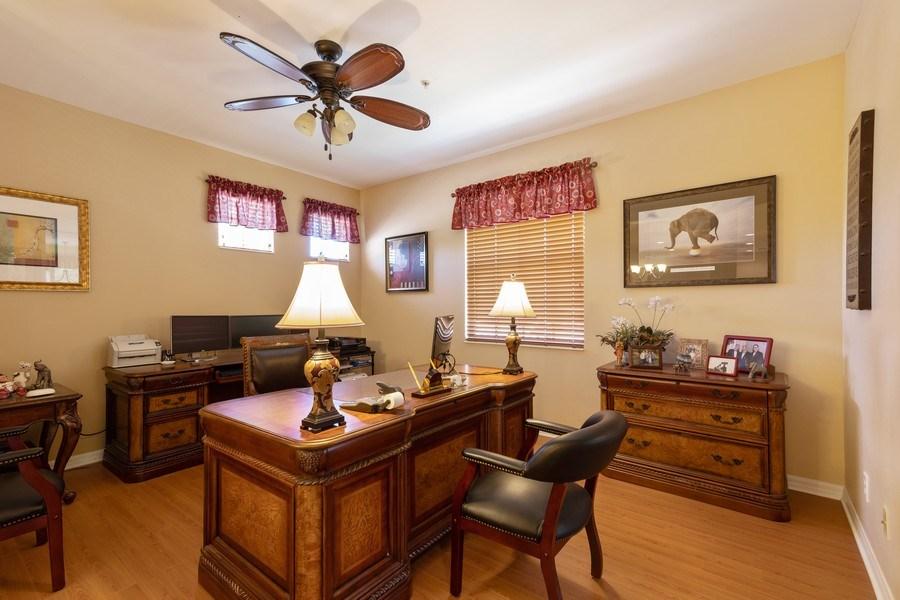 Real Estate Photography - 18941 Bay Woods Lake Dr. #201, Fort Myers, FL, 33908 - Den