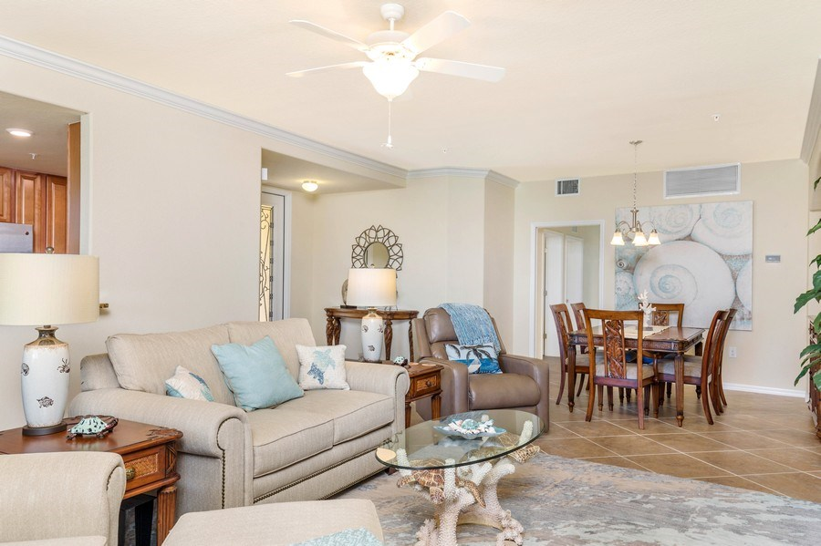 Real Estate Photography - 28100 Cookstown Court, Unit 2204, Bonita Springs, FL, 34135 - Living Room