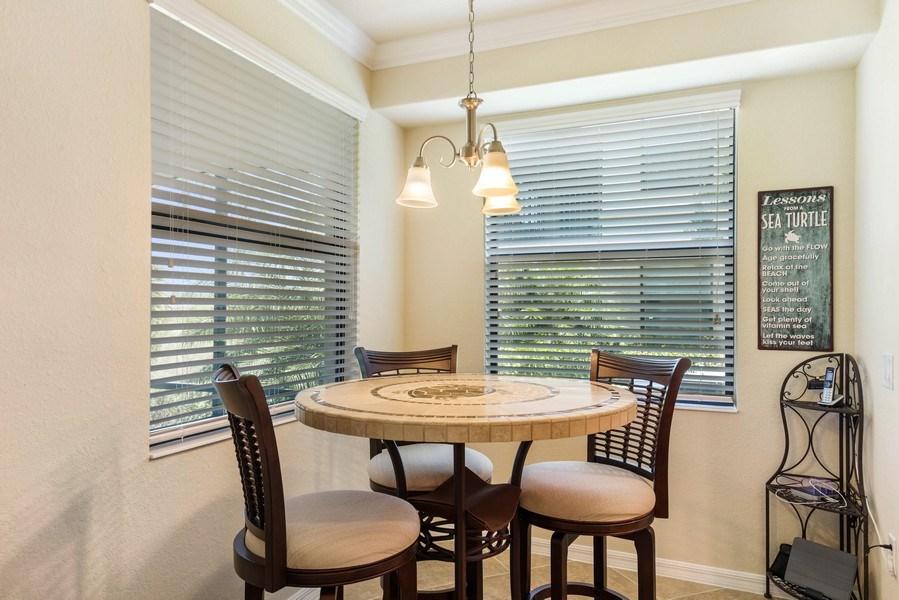 Real Estate Photography - 28100 Cookstown Court, Unit 2204, Bonita Springs, FL, 34135 - Breakfast Area