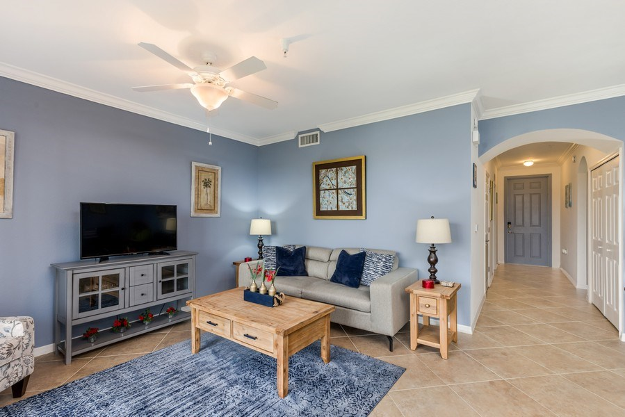 Real Estate Photography - 17941 BONITA NATIONAL BLVD 316, BONITA SPRINGS,, FL, 34135 - Living Room