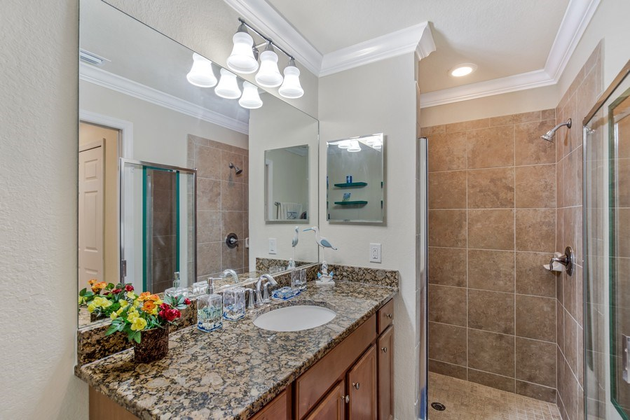 Real Estate Photography - 17941 BONITA NATIONAL BLVD 316, BONITA SPRINGS,, FL, 34135 - Master Bathroom