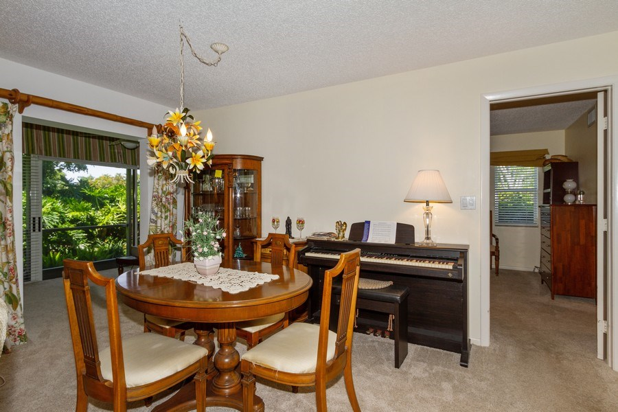 Real Estate Photography - 3200 Binnacle Drive F-2, Naples, FL, 34103 - Dining Room
